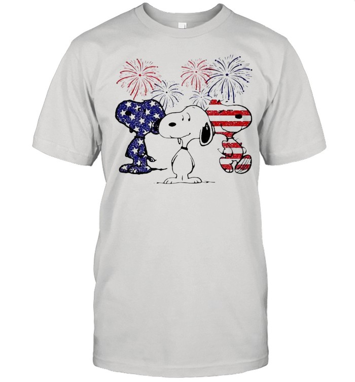 Snoopys American Flag Happy New Year shirt Classic Men's T-shirt