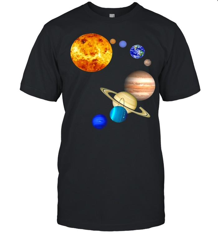 Planets In Solar System Science shirt Classic Men's T-shirt