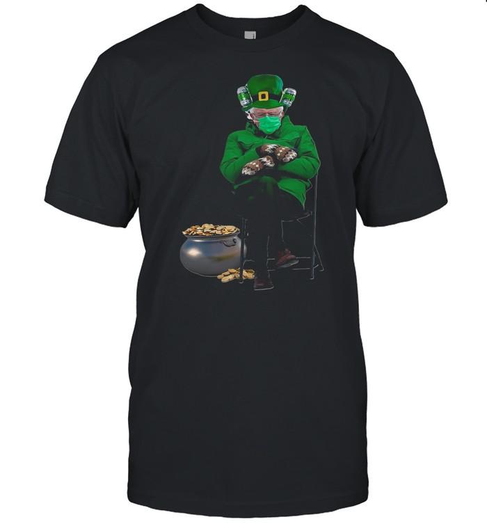 Green Bernie Sanders Face Mask Good Luck 2021 shirt Classic Men's T-shirt