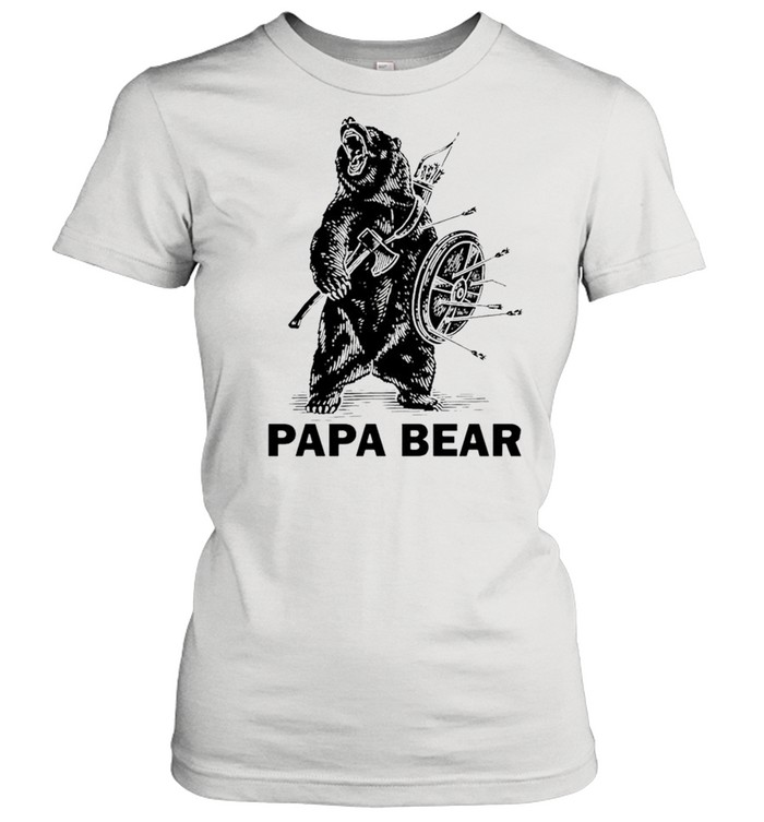 Papa bear Viking shirt Classic Women's T-shirt
