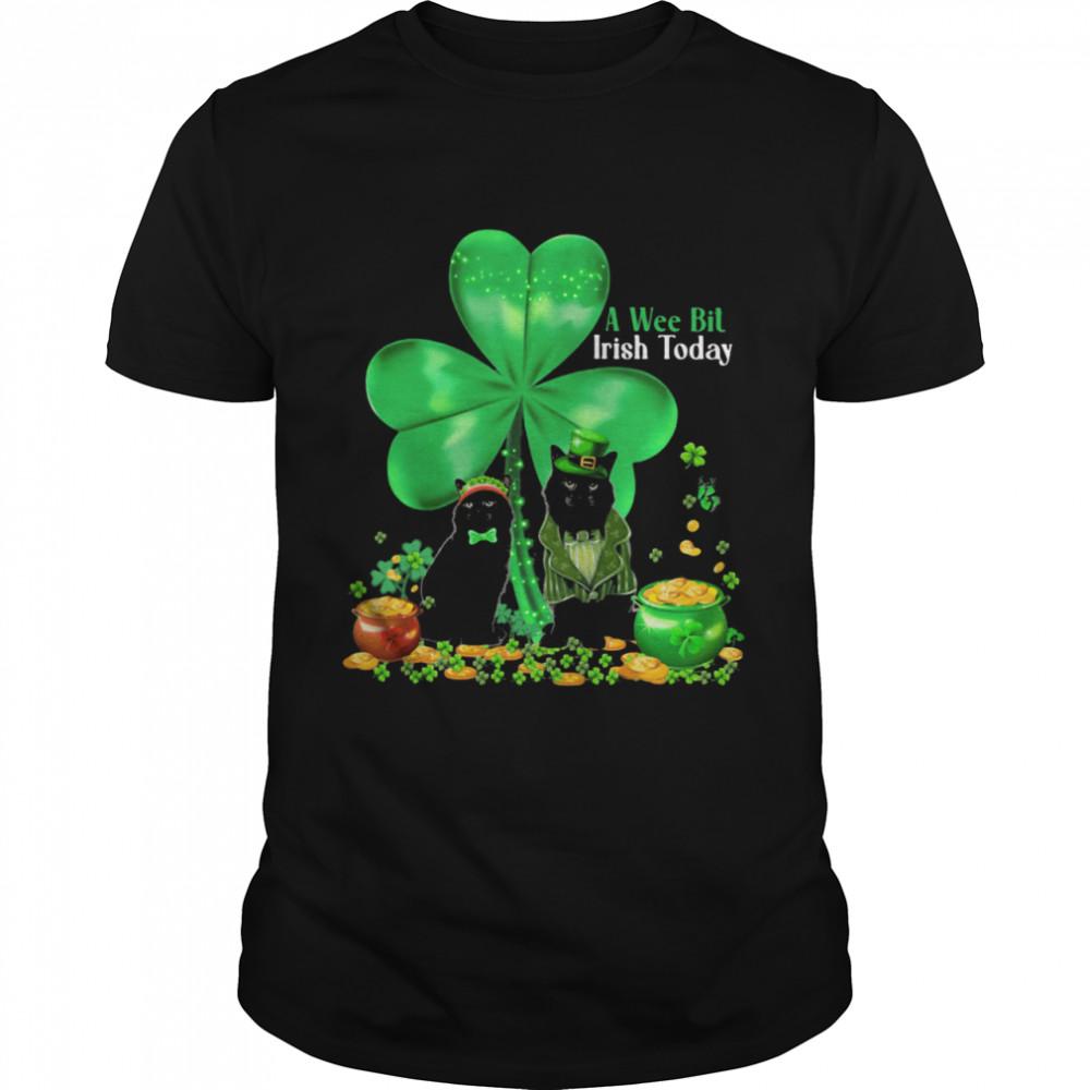 A Wee Bil Irish Today Cat Lucky Grass shirt Classic Men's