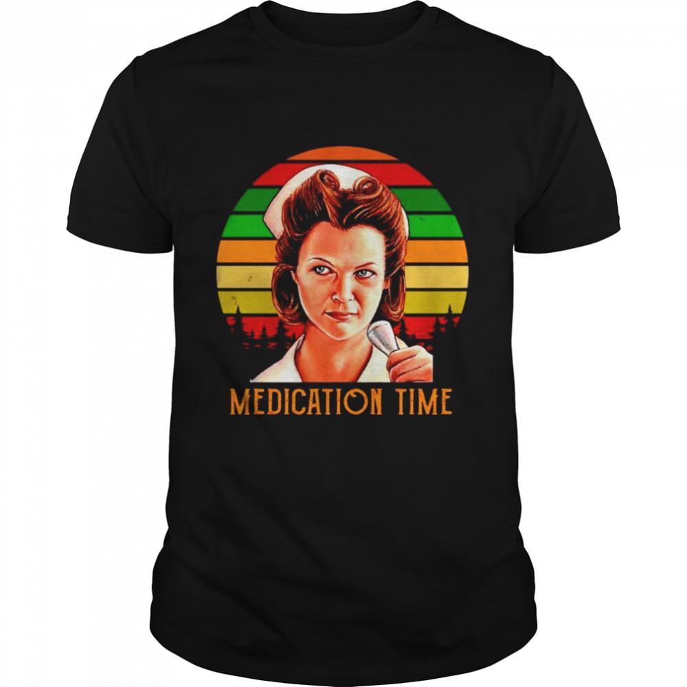 Nurse Ratched Medication time vintage shirt Classic Men's