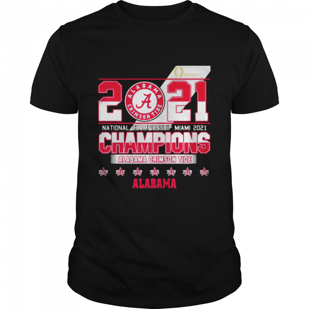 2021 National Championship Miami Alabama Crimson Tide shirt Classic Men's