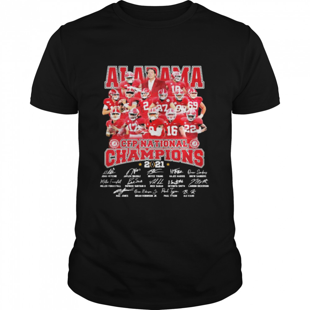 Alabama Cfp National Champions 2021 Signature Player Team Football shirt Classic Men's