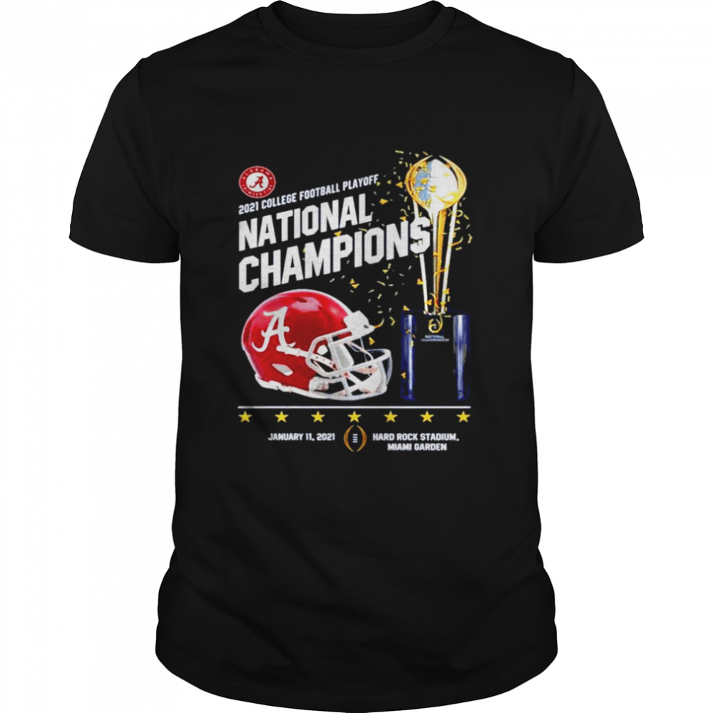 Alabama crimson tide 2021 college football playoff national champions alabama 52 ohio state 24 shirt Classic Men's