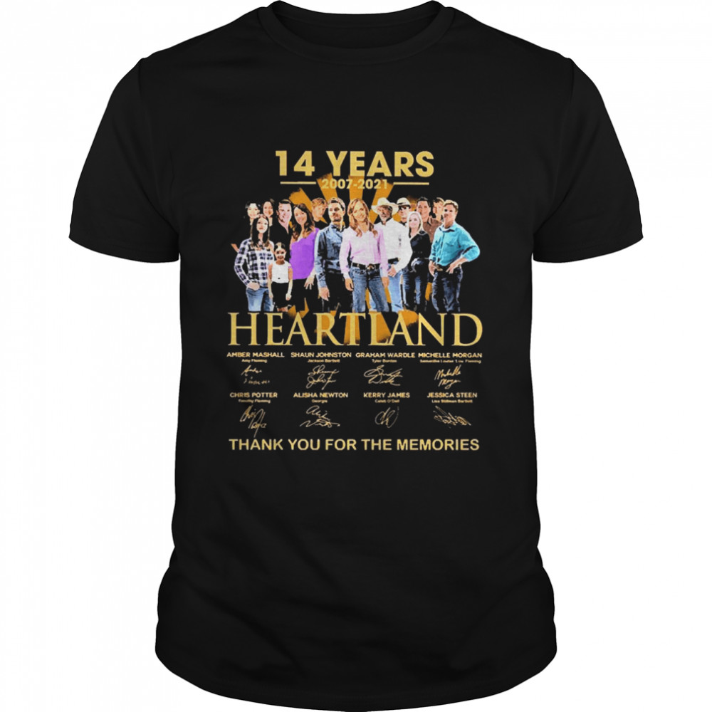 14 Years 2007 2021 Heartland Thank You For The Memories Signatures shirt Classic Men's