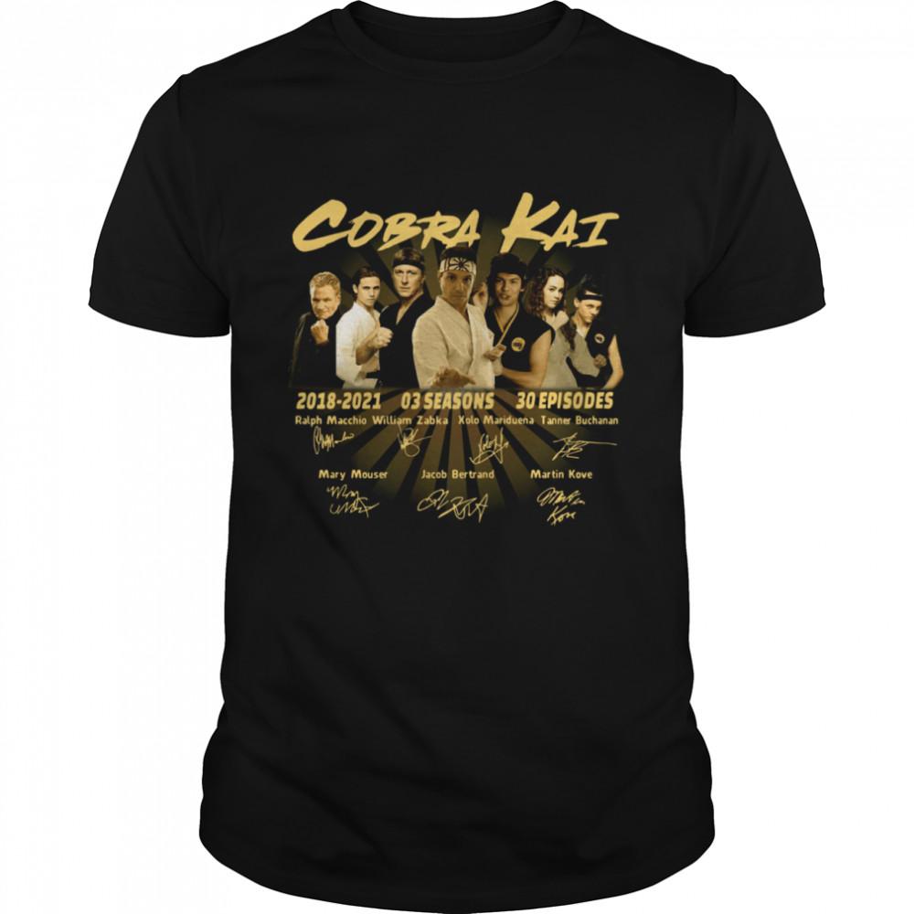 Cobra Kai 2018 2021 03 Season 30 Episodes Signatures shirt Classic Men's