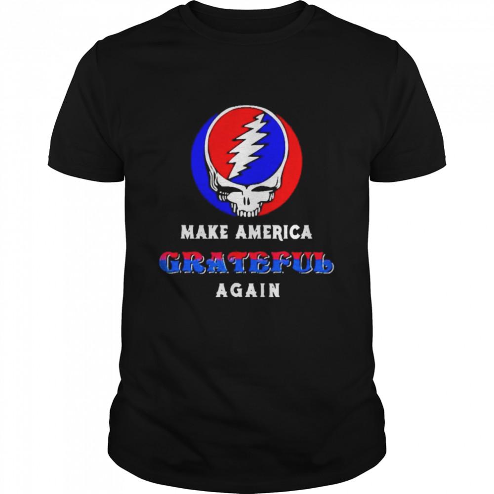 Skull make america grateful again shirt Classic Men's
