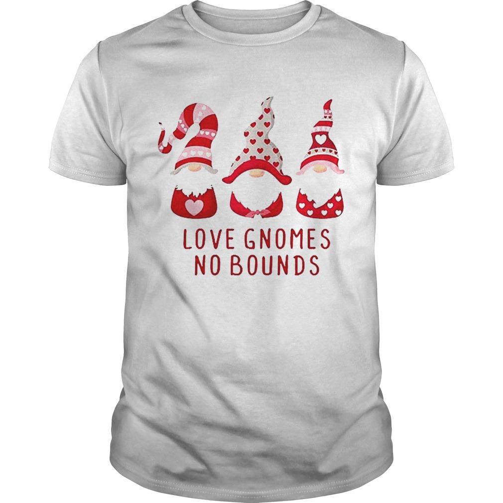 Love Gnomes No Bounds Cute Gnome Valentines shirt Classic Men's