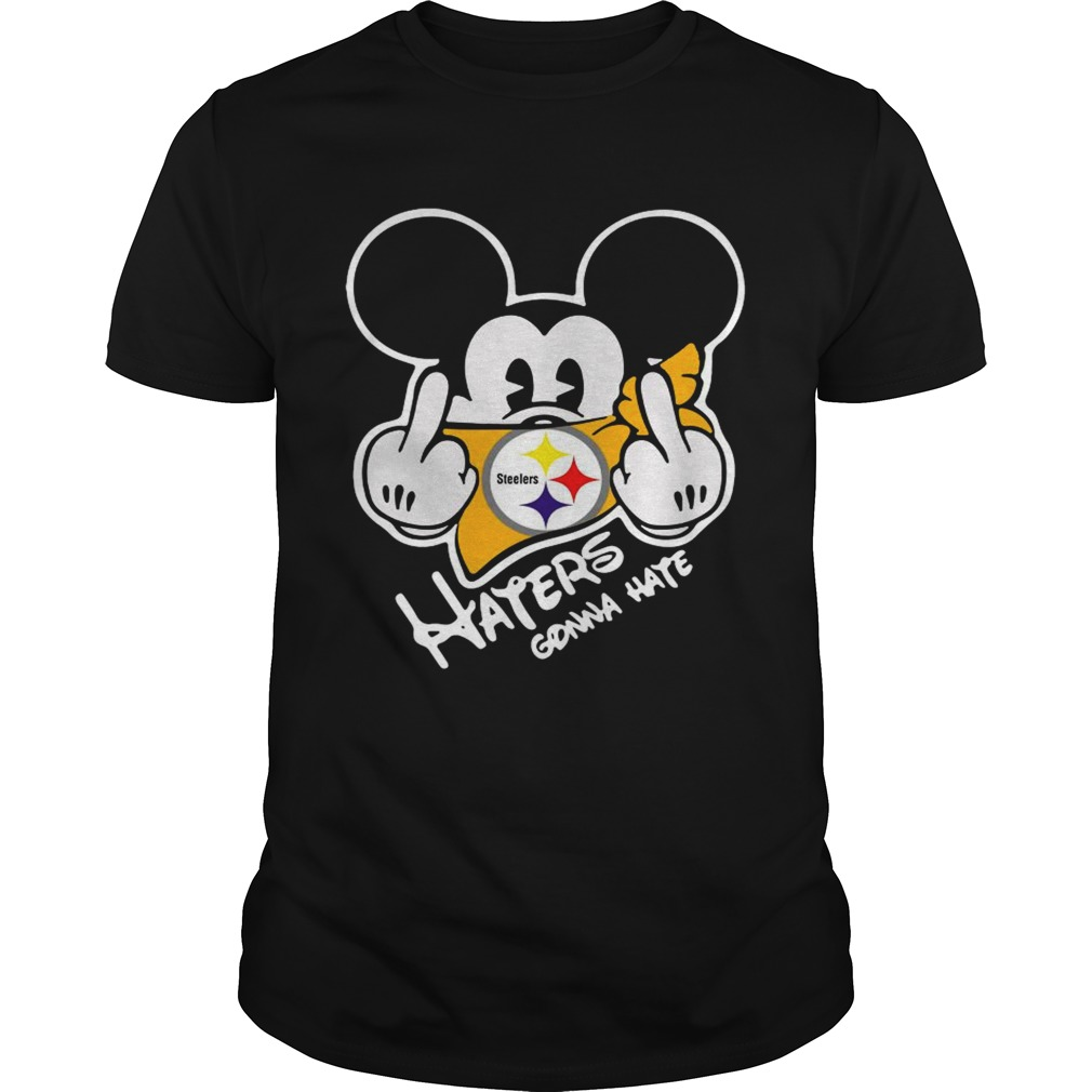 Mickey Mouse Face Mask Pittsburgh Steelers Fuck Haters Gonna Hate shirt Classic Men's