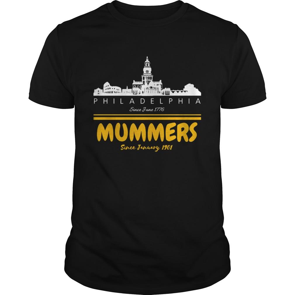 Philadelphia Since June 1776 Mummers Since January 1901 shirt Classic Men's