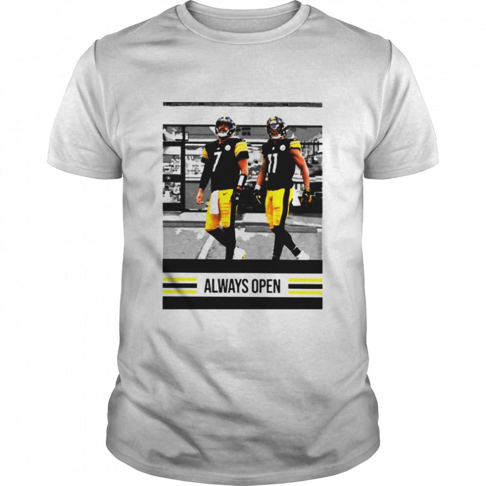 Ben Roethlisberger Justin Hunter Always Open shirt Classic Men's