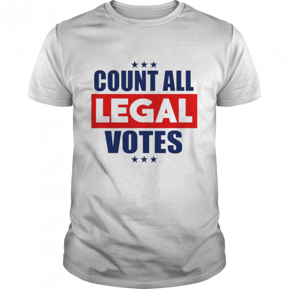 Count all legal votes shirt Classic Men's