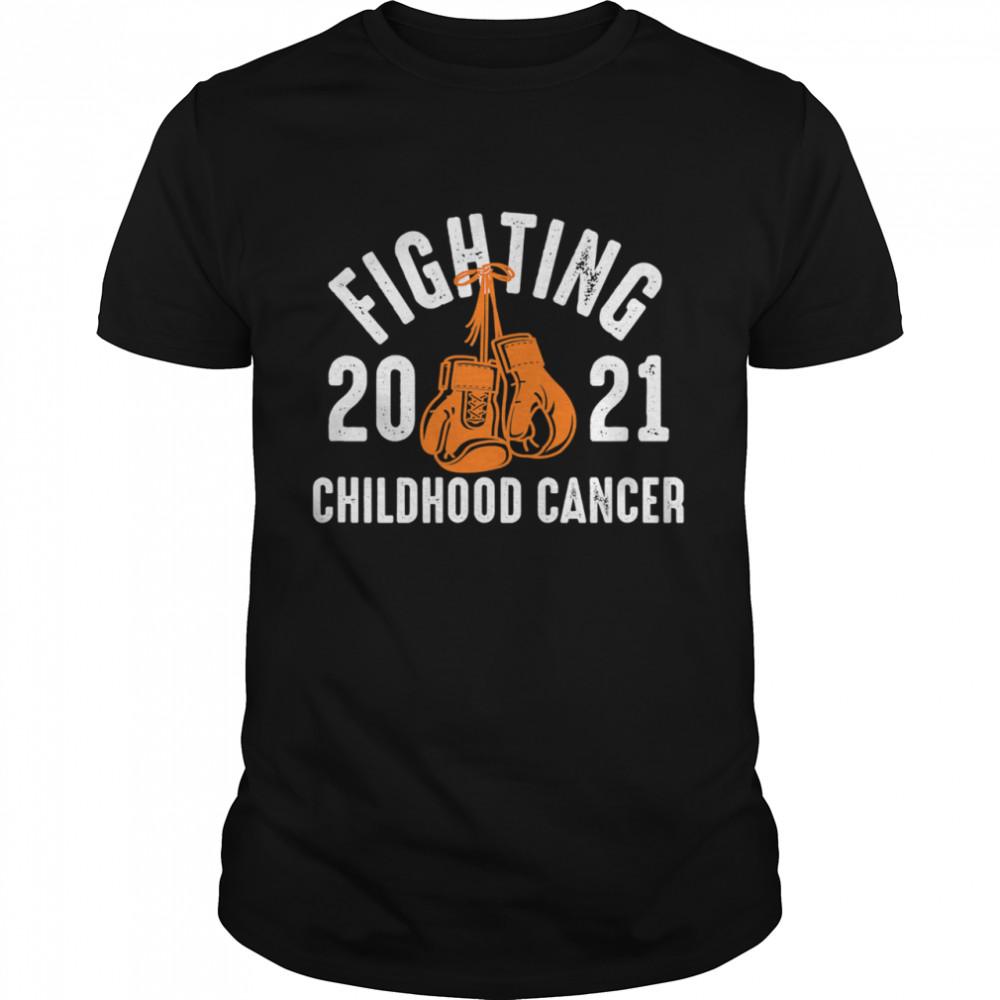 Fighting Childhood Cancer Gloves 2021 shirt Classic Men's