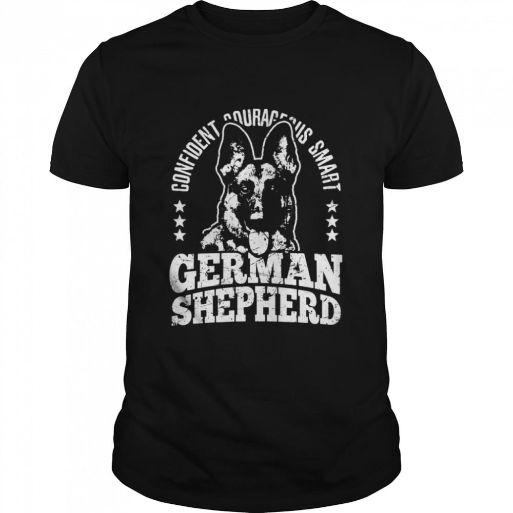 German Shepherd Dog Confident Courageous Smart Alsatian Dog shirt Classic Men's