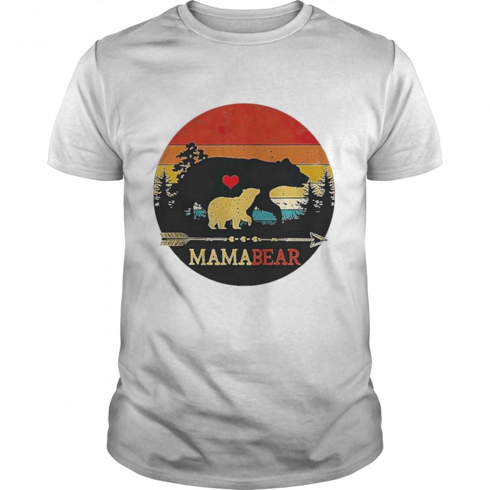 Mama bear vintage sunset shirt Classic Men's
