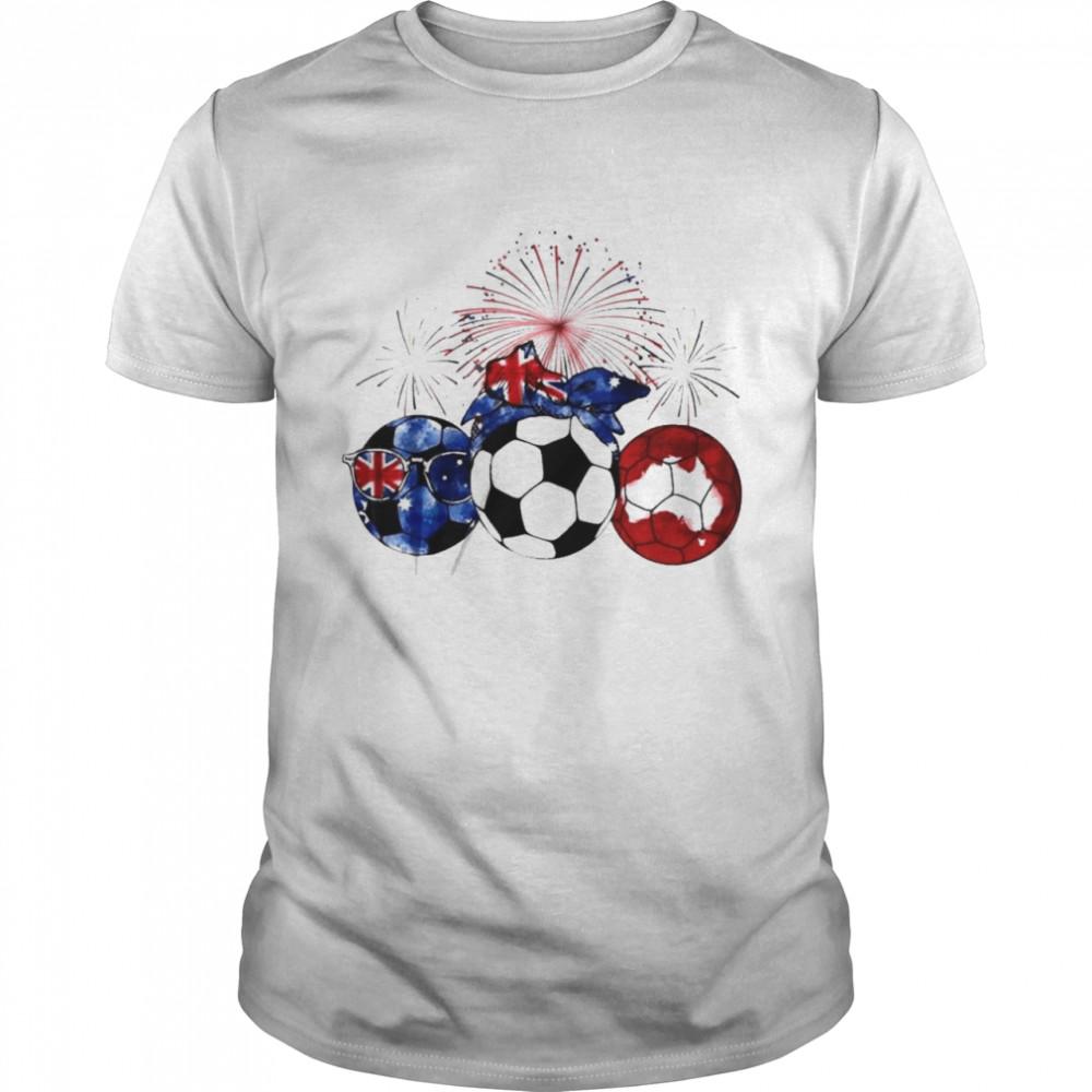 Soccer australien flagge happy new year shirt Classic Men's