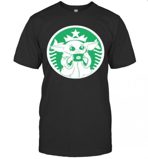 Baby Yoda Star Wars Coffee Starbucks shirt Classic Men's