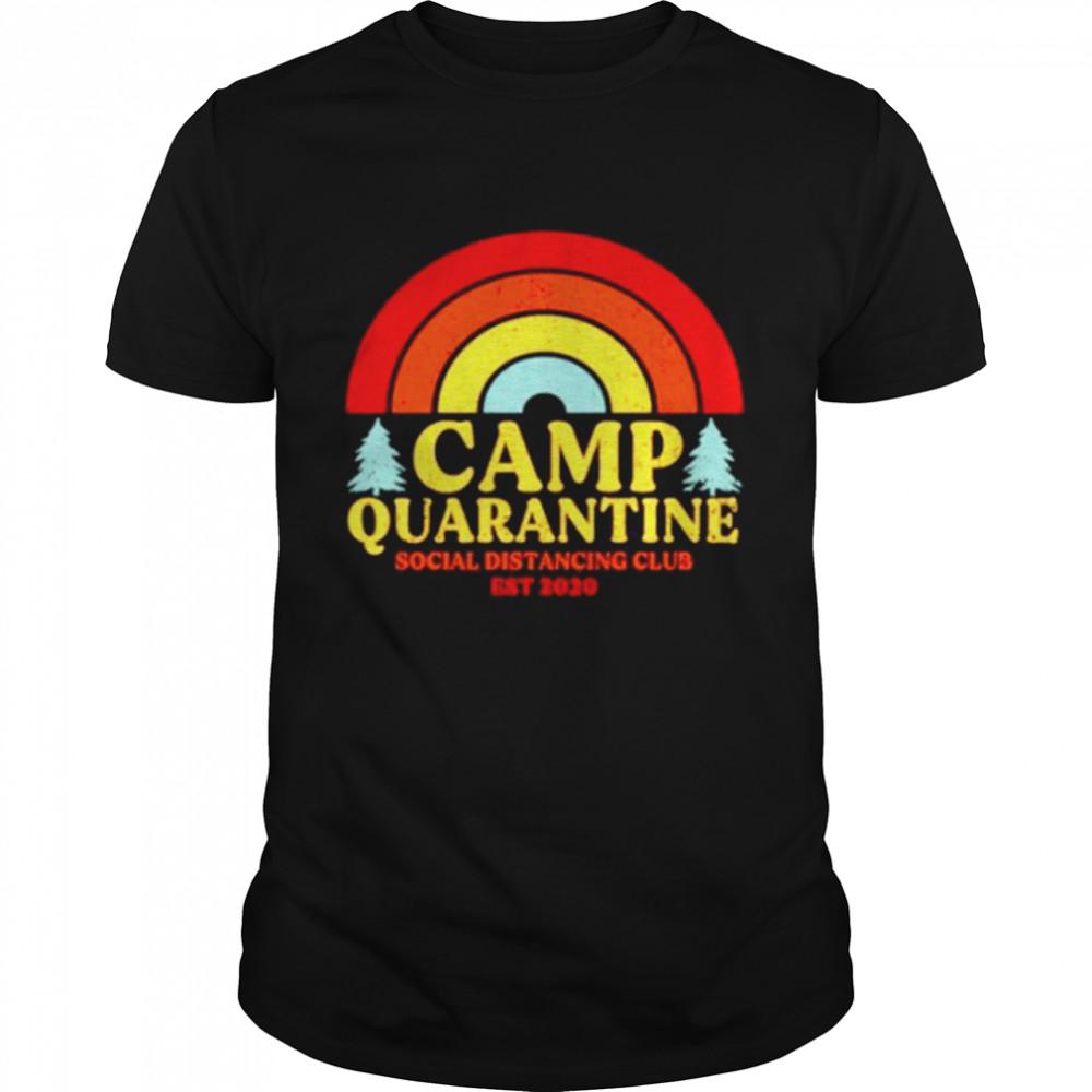 Camp Quarantine Vintage Social Distancing Club Est 2020 shirt Classic Men's