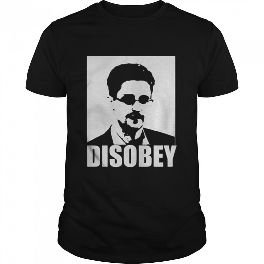 Edward Snowden Disobey shirt Classic Men's