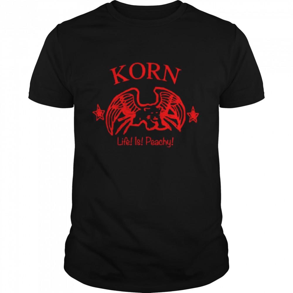 Korn Life is peachy shirt Classic Men's