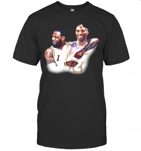 Lebron James And Kobe Bryant Los Angeles Lakers Nba shirt Classic Men's