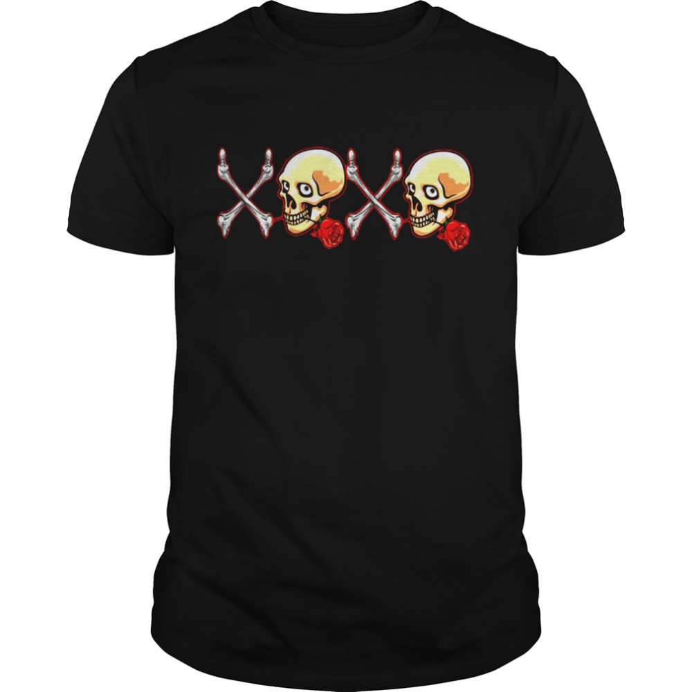 Skull rose XoXo shirt Classic Men's