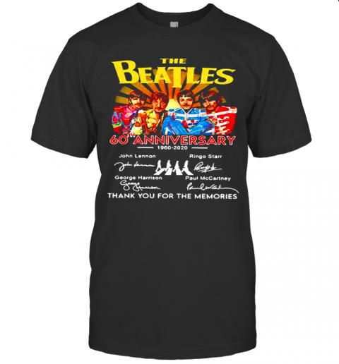The Beatles English Rock Band 60Th Anniversary 1960 2020 Signature shirt Classic Men's