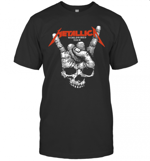 Hair Metallica Worldwired Tour shirt Classic Men's
