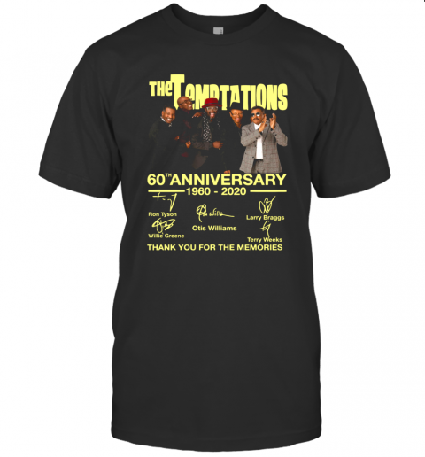The Temptations 60Th Anniversary 1960 2020 Thank You For The Memories Signature shirt Classic Men's