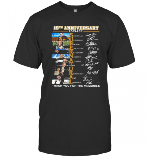 16Th Anniversary 2005 2021 Supernatural Thank You For The Memories Signature shirt Classic Men's