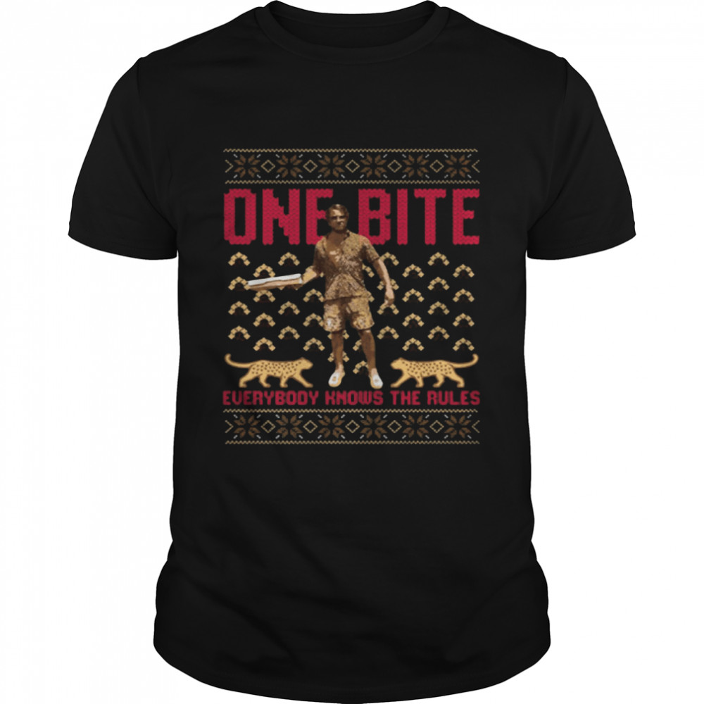 Daddy Dave and Franky One Bite Everybody Knows The Rules Christmas shirt Classic Men's