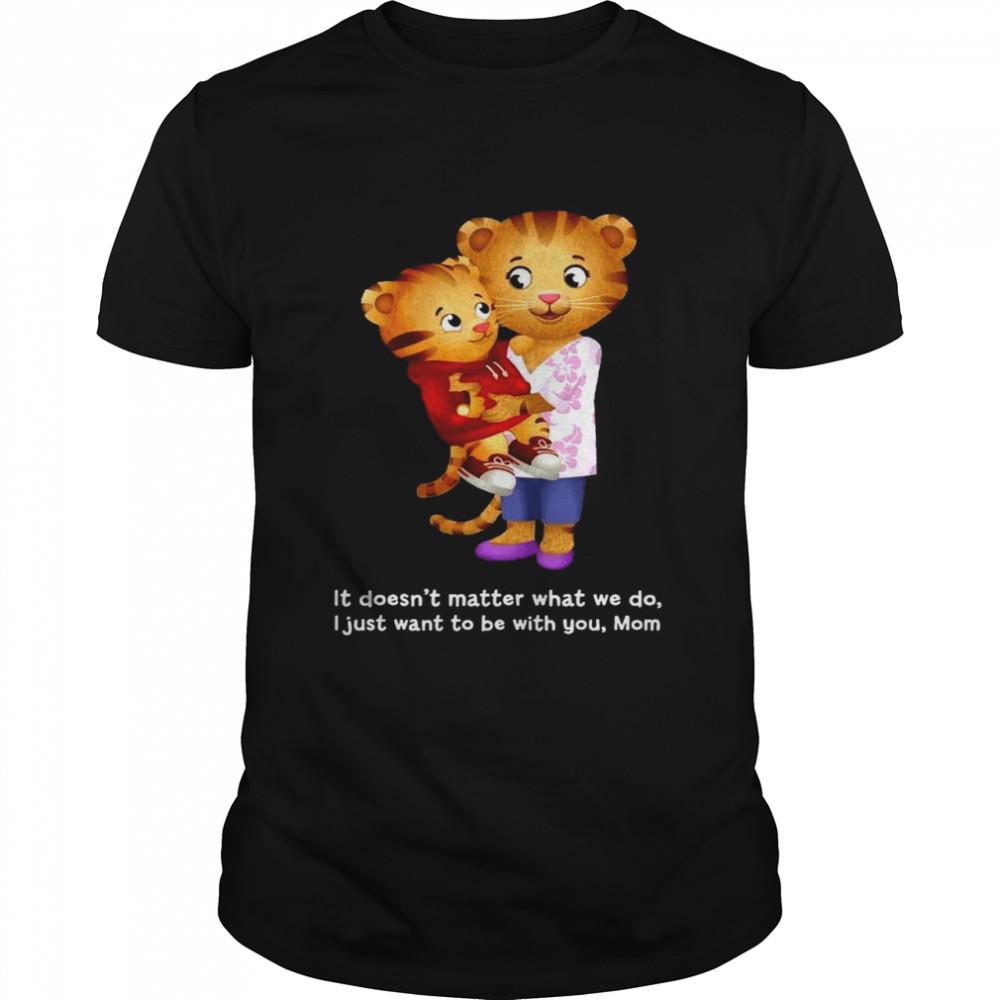 Daniel And Mom Tiger Dark shirt Classic Men's