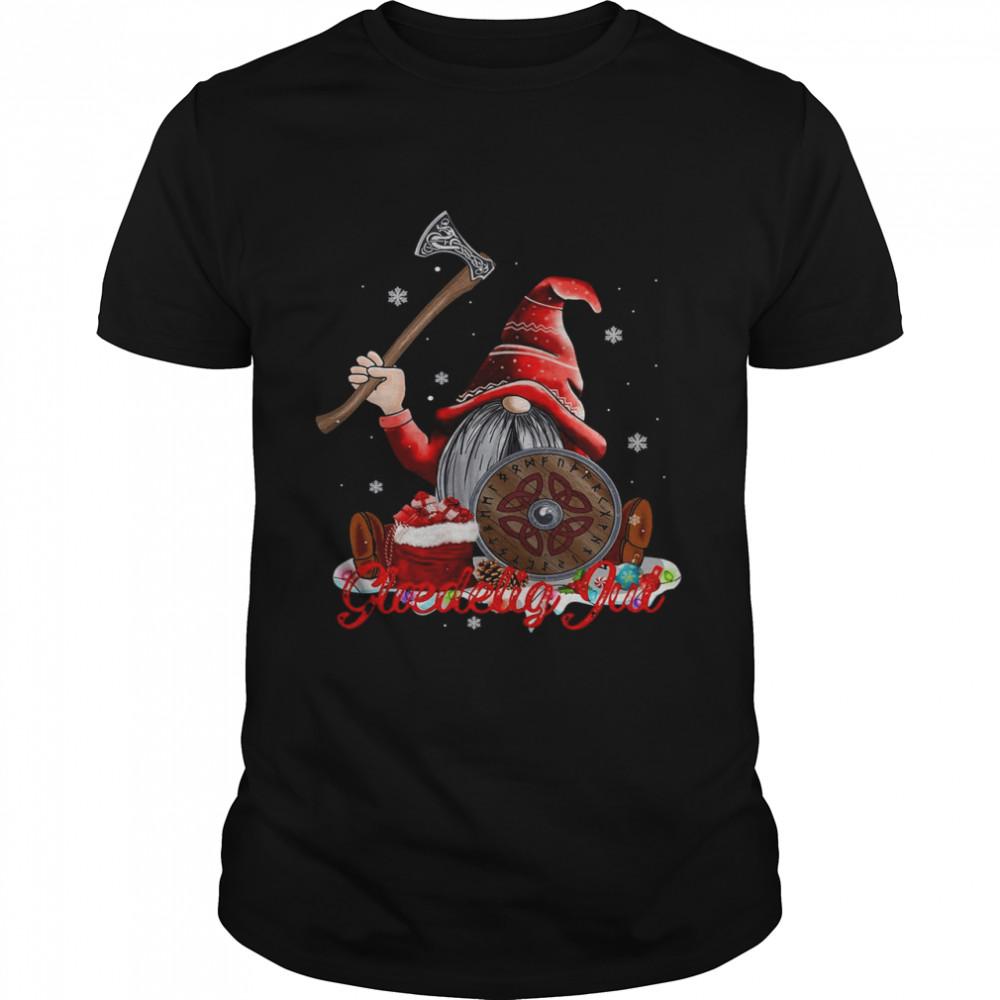 Glaedelig Jul Danish Viking Nisse Ugly Christmas shirt Classic Men's