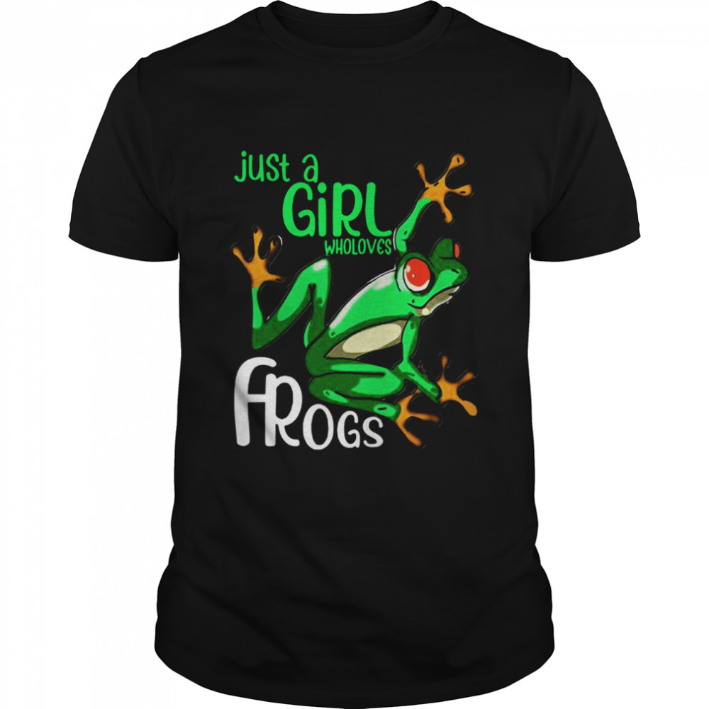Just Girl Who Loves Frogs shirt Classic Men's