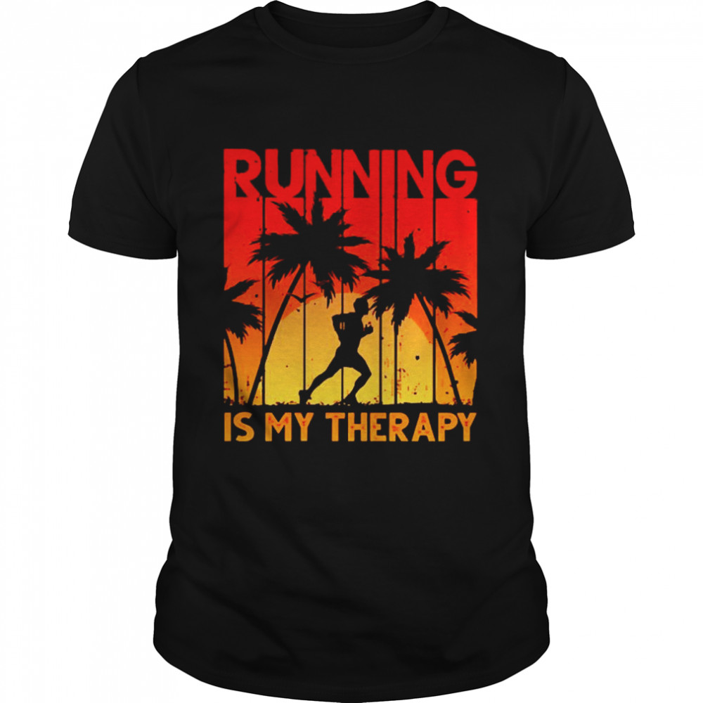 Running is my therapy shirt Classic Men's