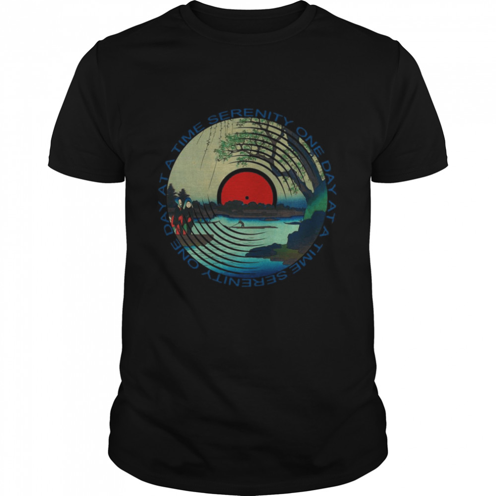 Sobriety Serenity One Day at A Time AA Sober shirt Classic Men's