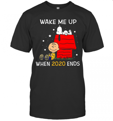 Charlie Brown And Snoopy Wake Me Up When 2020 Ends shirt Classic Men's