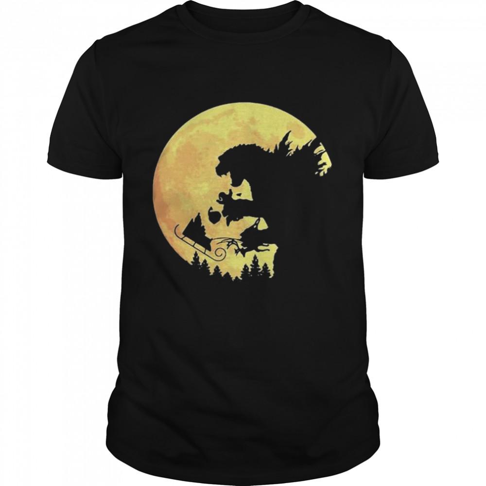 Godzilla Santa and moon shirt Classic Men's