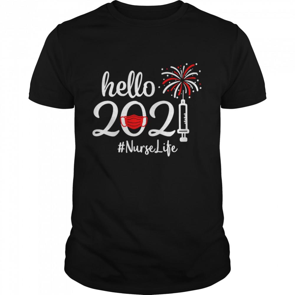 Hello 2021 Nurse life Face Mask Christmas shirt Classic Men's