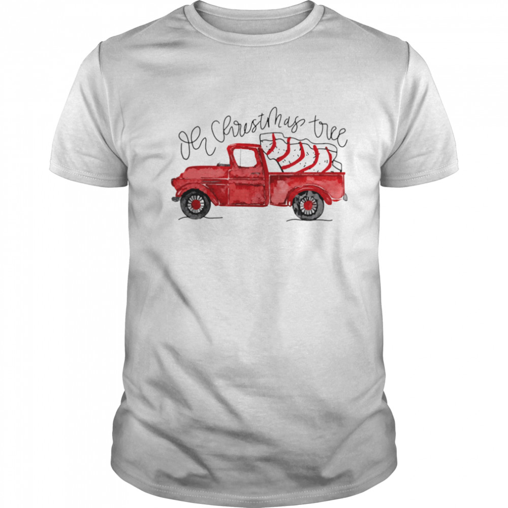 Red car oh christmas tree snack cakes shirt Classic Men's