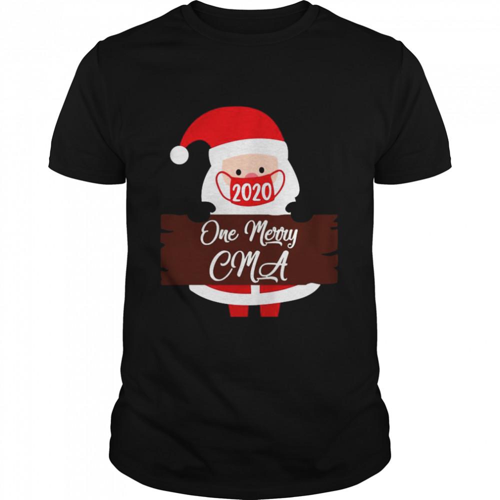 Santa Claus Face Mask 2020 One Merry CMA Christmas shirt Classic Men's