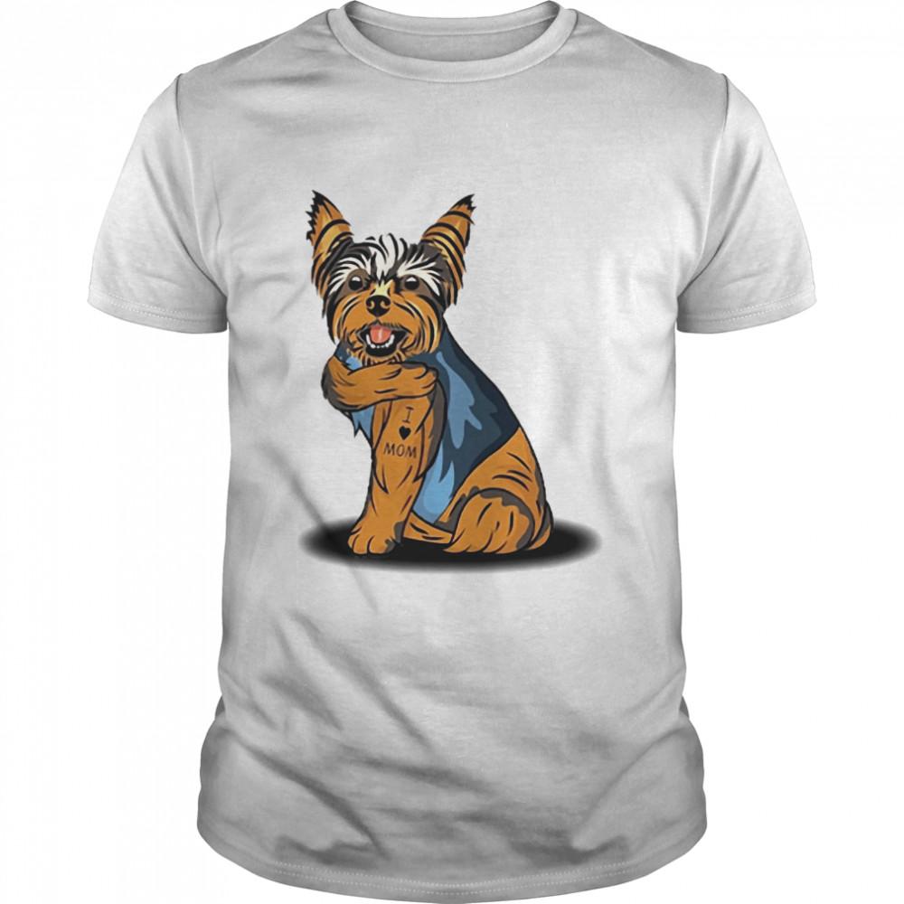 Yorkshire Terrier Tattoos I Love Mom shirt Classic Men's