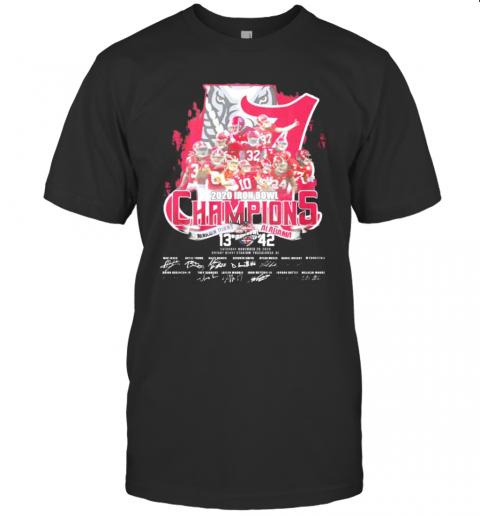2020 Iron Bowl Champions Auburn Tigers And Alabama Crimson Tide Signatures shirt Classic Men's