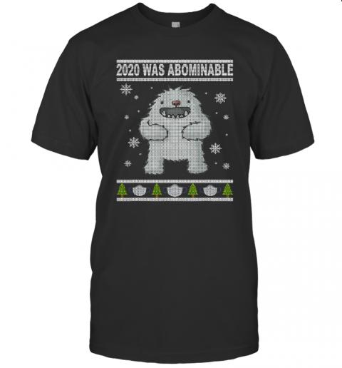 2020 Was Abominable Yeti Christmas Tree Face Mask shirt shirt Classic Men's
