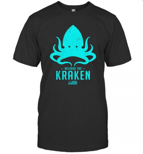 Release The Kraken Trump 2020 Election Monster Octopus Blue Usa Flag shirt Classic Men's