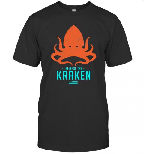 Release The Kraken Trump 2020 Election Monster Octopus Orange Usa Flag shirt Classic Men's