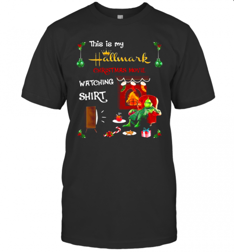 Resting Grinch Face This Is My Hallmark Christmas Movie Watching shirt Classic Men's