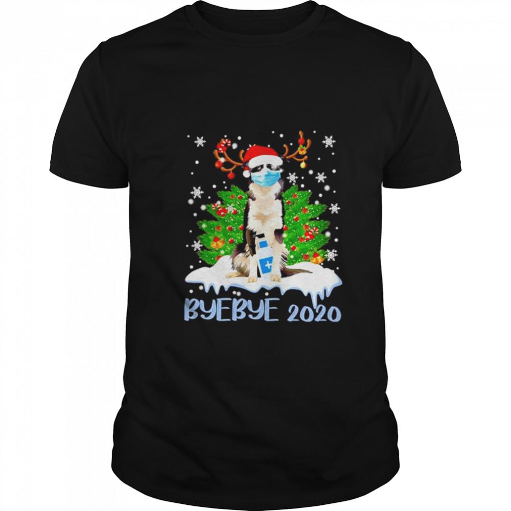 Santa Bernese Mountain dog face mask Bye Bye 2020 Merry Christmas tree shirt Classic Men's