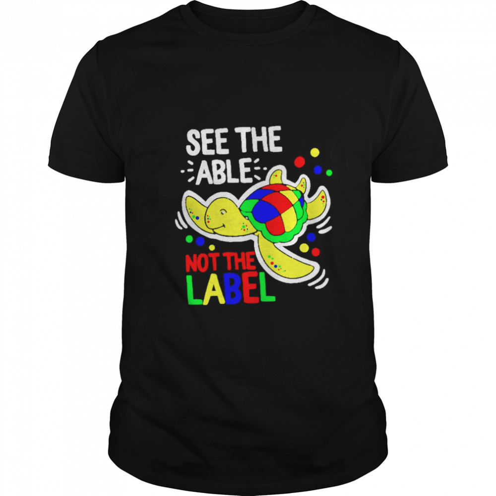 Turtle see the able not the label shirt Classic Men's